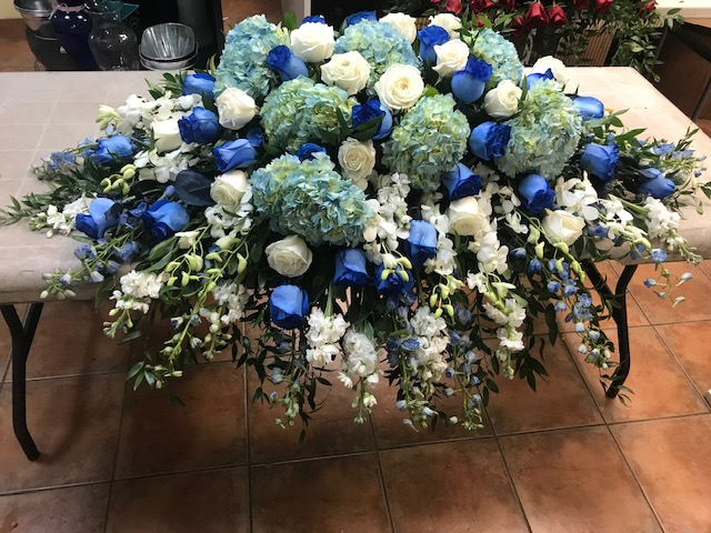 Mixed Blue & White Casket